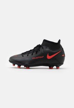 Nike Performance - JR PHANTOM CLUB FG/MG UNISEX - Fotballsko - black/chile red/dark smoke grey