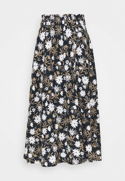 Marks & Spencer London - FLORAL SKIRT - Falda acampanada - dark blue
