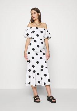 Never Fully Dressed - POLKA DOT MONROE DRESS - Robe de soirée - white