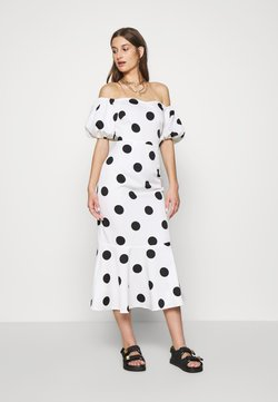 Never Fully Dressed - POLKA DOT MONROE DRESS - Cocktailjurk - white