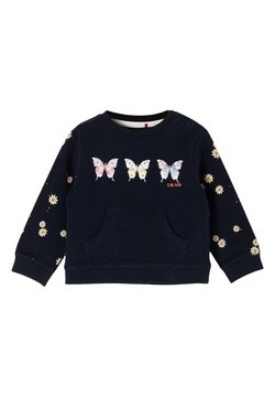 s.Oliver - Sweater - dark blue placed print