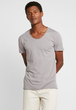Selected Homme - SLHNEWMERCE O-NECK TEE - T-shirt basic - frost gray