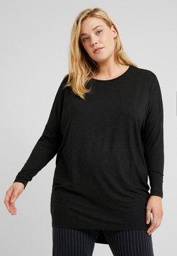 ONLY Carmakoma - CARCARMA LONG - Langarmshirt - black/melange