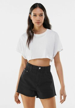 Bershka - Jeans Shorts - dark grey