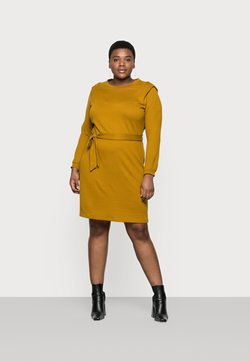 Vero Moda Curve - VMFRYA ABOVE KNEE DRESS - Vestido de punto - dried tobacco