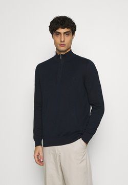 Marc O'Polo - TROYER WITH ZIP - Strickpullover - total eclipse