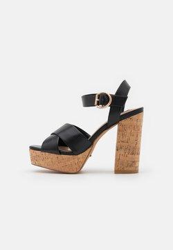 ONLY SHOES - ONLATUMN - Korkeakorkoiset sandaalit - black