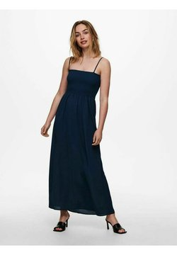 ONLY - GESMOKTES - Maxikleid - dress blues