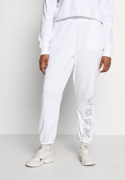 Missguided Plus - SLOGAN JOGGERS - Jogginghose - white