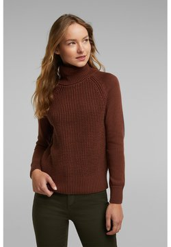 edc by Esprit - COWL NECK - Trui - brown