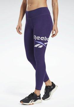 Reebok - COTTON ELEMENTS WORKOUT LEGGINGS - Tights - purple