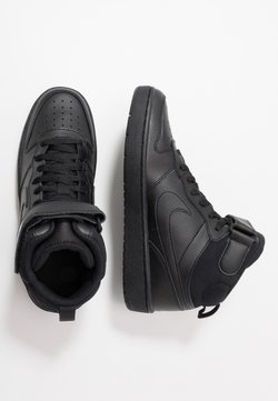 Nike Sportswear - COURT BOROUGH MID UNISEX - Korkeavartiset tennarit - black