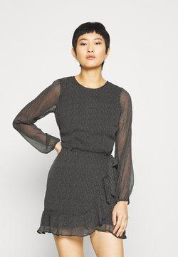 Abercrombie & Fitch - WRAP DRESS - Cocktailkleid/festliches Kleid - black