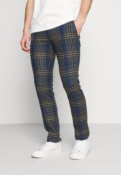 Twisted Tailor - LEIGHTON TROUSERS - Stoffhose - blue/yellow