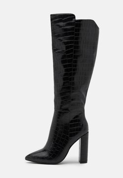 Glamorous Wide Fit - Korolliset saappaat - black