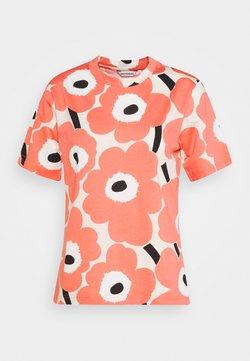 Marimekko - CLASSICS KAUTTA UNIKKO  - T-Shirt print - beige/rose/black