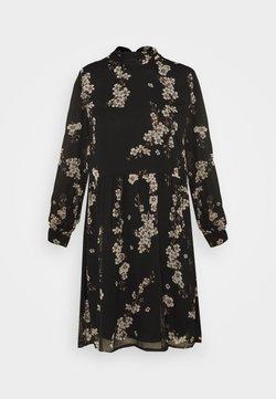 Vero Moda Petite - VMTILI HIGH NECK DRESS  - Freizeitkleid - black