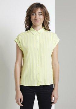TOM TAILOR - Hemdbluse - yellow white vertical stripe