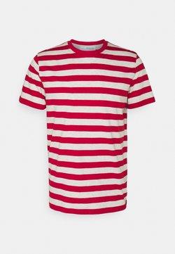 Selected Homme - MAXWELL ONECK TEE - T-Shirt print - samba/melange
