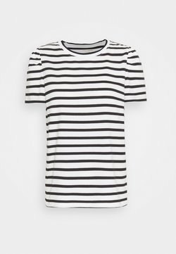 kate spade new york - STRIPE PUFF SLEEVE TEE - T-Shirt print - cream
