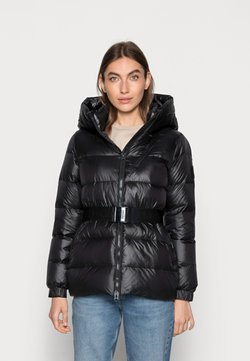 Calvin Klein - BELTED DOWN JACKET - Daunenjacke - black