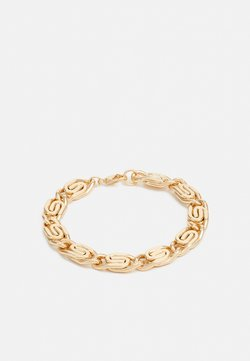 Burton Menswear London - OVAL LINK CHAIN BRACELET - Armband - gold-coloured