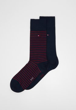 Tommy Hilfiger - MEN SMALL STRIPE SOCK 2 PACK - Socken - dark blue/red