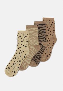 Pieces - PCRUZITA SOCKS 4 PACK - Socken - warm taupe