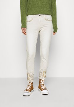 Desigual - PANT ANKLE PAISLE - Jeans Skinny Fit - white