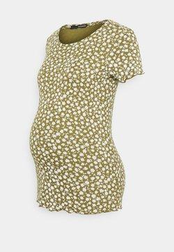 Supermom - TEE FLOWER - T-Shirt print - olive