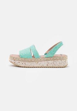 Wonders Green - Korkeakorkoiset sandaalit - coralus bermuda