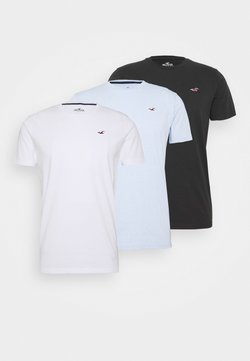 Hollister Co. - SEASONAL CREW 3 PACK  - T-shirts med print - blue