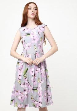 Madam-T - KANTRI - Freizeitkleid - grau, lila