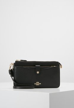 Coach - POLISHED PEBBLE POP UP MESSENGER - Pikkulaukku - black