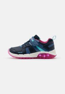 Geox - SPAZIALE GIRL - Sneaker low - navy/fuchsia