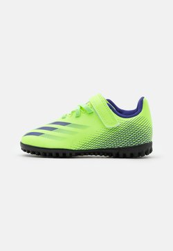 adidas Performance - X GHOSTED.4 FOOTBALL BOOTS TURF UNISEX - Fußballschuh Multinocken - signal green/energy ink