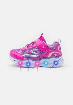 Skechers - HEART LIGHTS - Sneaker low - neon pink/multicolor