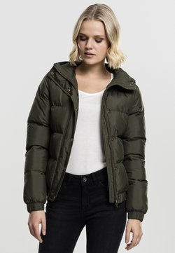 Urban Classics - LADIES HOODED PUFFER - Winterjacke - darkolive