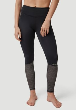 O'Neill - AOP - Tights - black with yellow