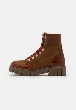 Shoe The Bear - REBEL HIKERCROC - Plateaustiefelette - tan