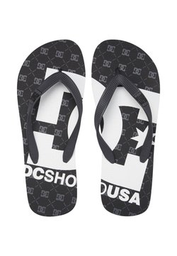 DC Shoes - SPRAY GRAFFIK - Tongs - black/gunmetal/white