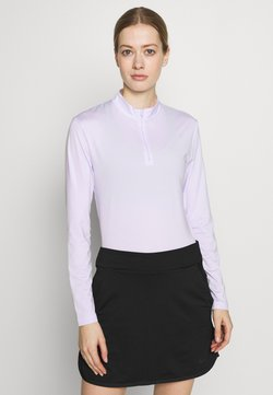 Nike Golf - DRY VICTORY HALF ZIP - Funktionsshirt - barely grape