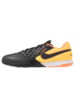 Nike Performance - TIEMPO REACT LEGEND 8 PRO IC - Halówki - black/laser orange