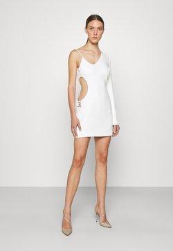David Koma - SIDE CUTOUT INSERT ONE SLEEVE MINI DRESS - Cocktailkleid/festliches Kleid - white