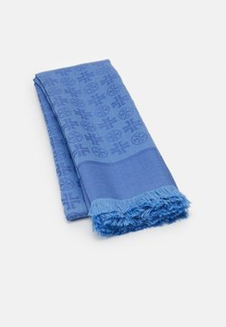 Tory Burch - LOGO TRAVELER SCARF - Chusta - pale blue