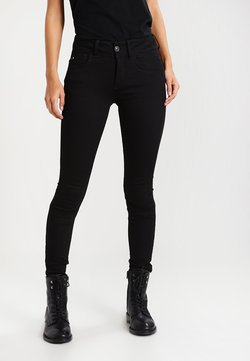 G-Star - LYNN MID SUPER SKINNY  - Jeans Skinny Fit - yield black ultimate stretch denim