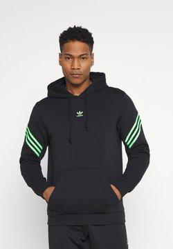 adidas Originals - SWAROVSKI HOODIE UNISEX - Kapuzenpullover - black/shock lime