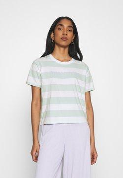 Hollister Co. - TEE - T-Shirt print - green/blue