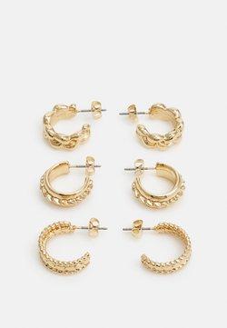 Pieces - PCJYMMIA HOOP EARRINGS 3 PACK - Earrings - gold-coloured