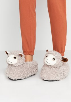 South Beach - LLAMA SLIPPERS - Chaussons - grey